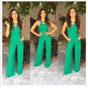 Women's H&M Green Jumpsuit